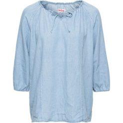 Bluzki, topy, tuniki: Tunika dżinsowa, rękawy 3/4 bonprix jasnoniebieski