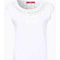 S.Oliver Casual - T-shirt damski, czarny. Czarne t-shirty damskie s.Oliver Casual, s, w koronkowe wzory, z dżerseju. Za 69,95 zł.