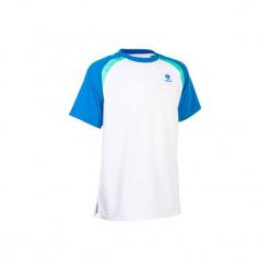 T-Shirt 500 Jr biały. Białe t-shirty męskie marki ARTENGO, m, z elastanu. W wyprzedaży za 24,99 zł.