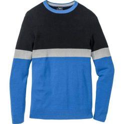 Sweter Regular Fit bonprix lodowy niebieski - czarny. Niebieskie swetry klasyczne męskie marki bonprix, l. Za 74,99 zł.