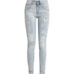 GStar LYNN DMID SUPER SKINNY WMN Jeans Skinny Fit lt aged painted restored. Niebieskie jeansy damskie relaxed fit marki G-Star, z bawełny. Za 609,00 zł.
