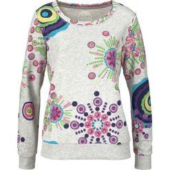 Bluza z nadrukiem bonprix jasnoszary melanż z nadrukiem. Szare bluzy rozpinane damskie bonprix, melanż. Za 89,99 zł.