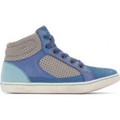 Wysokie trampki Lynx. Niebieskie buty sportowe chłopięce marki Kickers, z kauczuku, na sznurówki. Za 320,46 zł.