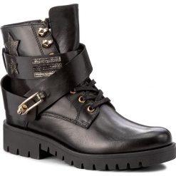 Botki CARINII - B4067 K81-K44-PSK-C56. Czarne buty zimowe damskie marki Carinii, z materiału, na obcasie. W wyprzedaży za 289,00 zł.