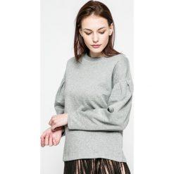 Vero Moda - Bluza. Szare bluzy damskie Vero Moda, l, z bawełny, bez kaptura. W wyprzedaży za 49,90 zł.