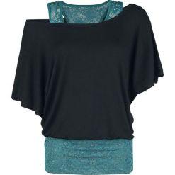 Black Premium by EMP When The Heart Rules The Mind Koszulka damska czarny/zielony. Czarne bluzki koronkowe marki Black Premium by EMP, xl. Za 121,90 zł.