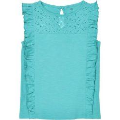 Bluzki dziewczęce bawełniane: Koszulka na ramiączkach z falbankami i haftem 3-12 lat