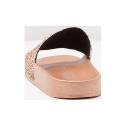 Chodaki damskie: Office SPANDANGLE Klapki rose gold glitter