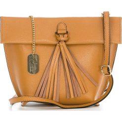 Torebki klasyczne damskie: Skórzana torebka w kolorze brązowym – 35 x 30 x 20 cm
