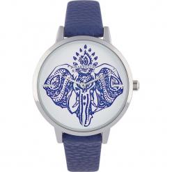 """Zegarek kwarcowy """"Animal"""" w kolorze niebiesko-srebrno-białym. Niebieskie, analogowe zegarki damskie Stylowe zegarki. W wyprzedaży za 139,95 zł."""