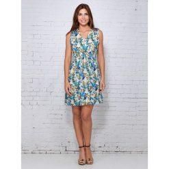 Sukienki hiszpanki: Sukienka w kolorze niebieskim ze wzorem