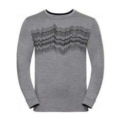 Odlo Koszulka męska Shirt l/s crew neck NATURAL 100% MERINO szara r. XL (110612). Szare koszulki sportowe męskie marki Odlo, l. Za 236,52 zł.