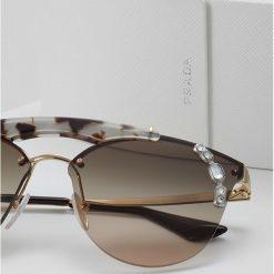 Okulary przeciwsłoneczne damskie aviatory: Prada Okulary przeciwsłoneczne light brown/light grey