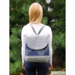 Plecaki damskie: Plecak z Falbankami – Szary z Jeansem