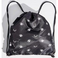 Plecak worek - Czarny. Czarne plecaki damskie marki Sinsay. W wyprzedaży za 14,99 zł.