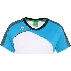 Erima PREMIUM ONE 2.0  Tshirt z nadrukiem white/curacao/blau. Białe topy sportowe damskie Erima, z nadrukiem, z materiału. Za 169,00 zł.