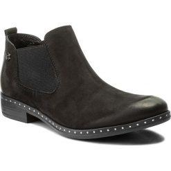 Sztyblety CARINII - B4192/M 360-000-PSK-C63. Czarne buty zimowe damskie Carinii, z nubiku, na obcasie. W wyprzedaży za 199,00 zł.