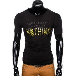 T-SHIRT MĘSKI Z NADRUKIEM S988 - CZARNY. Czarne t-shirty męskie z nadrukiem Ombre Clothing, m. Za 29,00 zł.