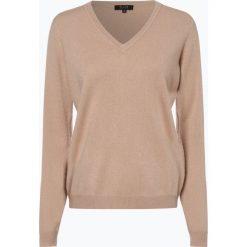 SvB Exquisit - Sweter damski z czystego kaszmiru, beżowy. Brązowe swetry klasyczne damskie SvB Exquisit, z dzianiny. Za 499,95 zł.