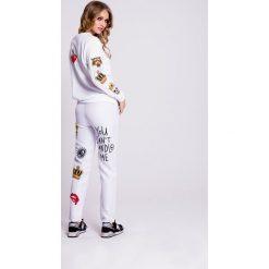 Naoko - Bluza Wild Wish. Szare bluzy z nadrukiem damskie marki NAOKO, l, z elastanu, casualowe. Za 199,90 zł.