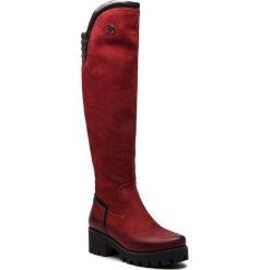 Muszkieterki EVA MINGE - Barrios 4P 18SM1372497EF 434. Czerwone buty zimowe damskie Eva Minge, z nubiku, na obcasie. W wyprzedaży za 449,00 zł.