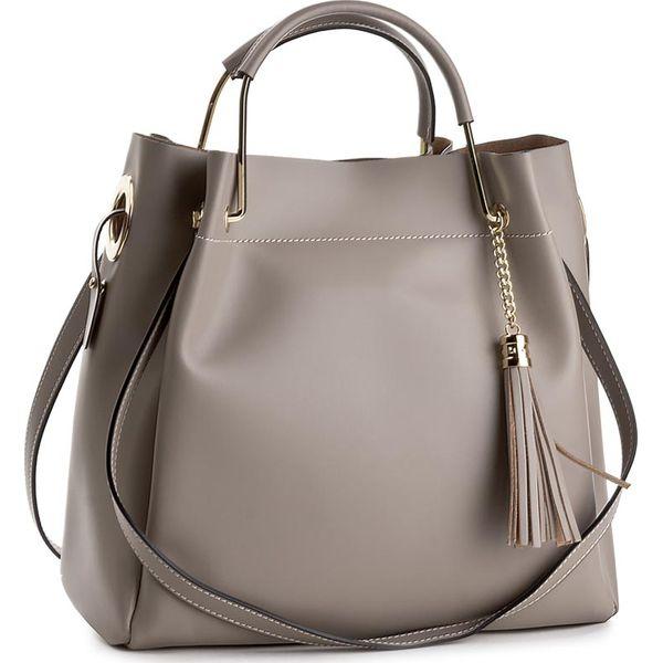 195dabf65c603 Torebka CREOLE - K10385 Ciemny Beż - Brązowe torebki klasyczne damskie  Creole, bez wzorów, ze skóry, klasyczne, bez dodatków. Za 329,00 zł.