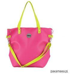 Torba Worek Waterproof Fuchsia Lime. Różowe torebki klasyczne damskie Pakamera, ze skóry. Za 169,00 zł.