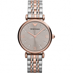 Zegarek EMPORIO ARMANI - Gianni T-Bar AR1840  Silver/Rose Gold. Szare zegarki damskie Emporio Armani. Za 1419,00 zł.