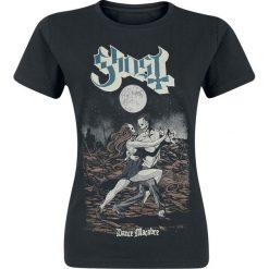 Ghost Dance Macabre Koszulka damska czarny. Czarne bluzki asymetryczne Ghost, l, z nadrukiem, z okrągłym kołnierzem. Za 74,90 zł.