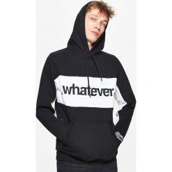 Bejsbolówki męskie: Bluza z napisami kolekcja whatever - Czarny