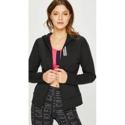 Calvin Klein Performance - Bluza. Czarne bluzy rozpinane damskie Calvin Klein Performance, l, z bawełny, z kapturem. Za 499,90 zł.