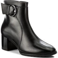 Botki HÖGL - 4-114127 Black 0100. Czarne buty zimowe damskie marki HÖGL, z materiału. W wyprzedaży za 429,00 zł.