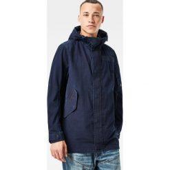G-Star Raw - Kurtka. Czarne kurtki męskie przejściowe marki G-Star RAW, l, z bawełny, retro, z kapturem. W wyprzedaży za 599,90 zł.