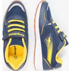 KangaROOS ROJI  Tenisówki i Trampki dark navy/sun yellow. Niebieskie tenisówki męskie KangaROOS, z gumy. Za 149,00 zł.