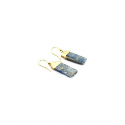 Kolczyki Kyanit złoto. Niebieskie kolczyki damskie Brazi druse jewelry, z perłą, pozłacane. Za 170,00 zł.