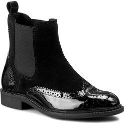 Sztyblety FILIPE - 9143 CA/VZ 3505/223. Czarne buty zimowe damskie Filipe, z lakierowanej skóry, na obcasie. W wyprzedaży za 269,00 zł.