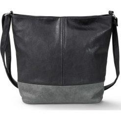 Torba shopper dwukolorowa medium bonprix czarno-szary. Czarne shopper bag damskie bonprix. Za 79,99 zł.