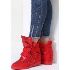 Sneakersy damskie: Czerwone Sneakersy Live My Life