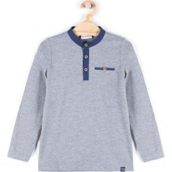 Koszulka. Szare t-shirty chłopięce z długim rękawem BASIC BOY, z bawełny. Za 29,90 zł.