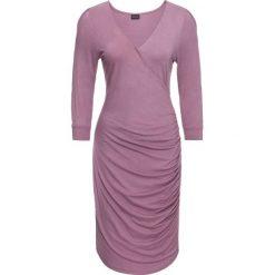 Sukienki: Sukienka z dżerseju z wycięciami bonprix matowy fioletowy