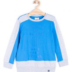Koszulka. Niebieskie t-shirty chłopięce z długim rękawem ATHLETICS, z nadrukiem, z bawełny. Za 39,90 zł.