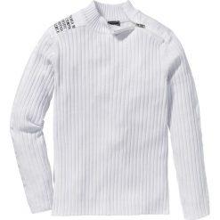 """Swetry męskie: Sweter """"Slim fit"""" bonprix biały"""