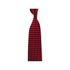 Krawaty męskie: Krawat bordowy kropki gęste