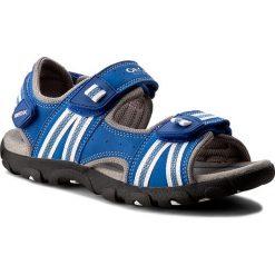Sandały GEOX - J S. Strada A J4224A 0CE14 C0432 D Granatowy/Biały. Niebieskie sandały męskie skórzane Geox. W wyprzedaży za 199,00 zł.