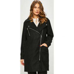 Answear - Płaszcz. Czarne płaszcze damskie pastelowe ANSWEAR, l, z bawełny. W wyprzedaży za 219,90 zł.