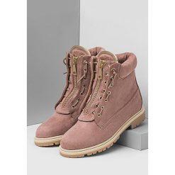 Buty zimowe damskie: Różowe Traperki Nuna
