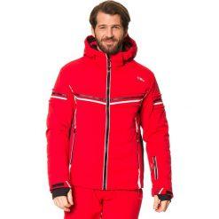 Kurtka narciarska w kolorze czerwonym. Czerwone kurtki męskie bomber CMP, m, z materiału, narciarskie. W wyprzedaży za 621,95 zł.