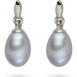 Kolczyki-wkrętki z perłami. Szare kolczyki damskie Pearls Special, z perłą, srebrne. W wyprzedaży za 68,95 zł.