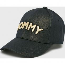 Tommy Hilfiger - Czapka. Czarne czapki z daszkiem damskie TOMMY HILFIGER, z bawełny. Za 179,90 zł.
