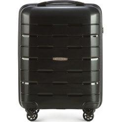 Walizka kabinowa 56-3T-721-10. Czarne walizki marki Wittchen, z gumy, małe. Za 199,00 zł.